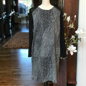 Chico's LS Dress with Faux Leather